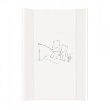 Пеленальная доска Cebababy 50x70 Basic line W-200-004-100, Мишки рыбачат, белый