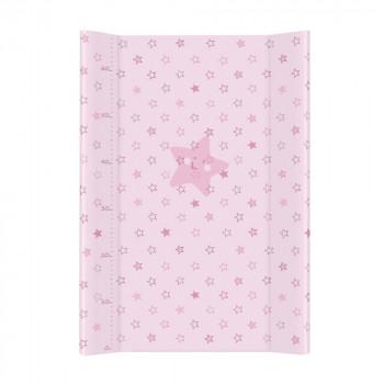 Пеленальная доска Cebababy 50x70 Basic line W-200-066-130, Звездочка розовая, розовый