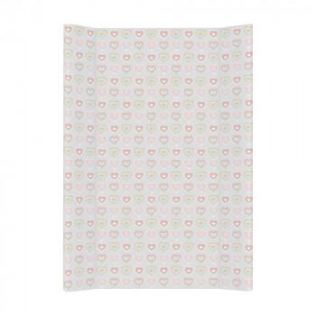 Пеленальная доска Cebababy 50x70 Basic line W-200-089-261, Цветная любовь серый, серый