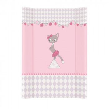Пеленальная доска Cebababy 50x70 Basic line W-200-069-130, Котик розовый, розовый