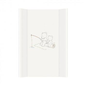 Пеленальная доска Cebababy 50x80 Basic line W-210-004-100, Мишки рыбачат белый, белый