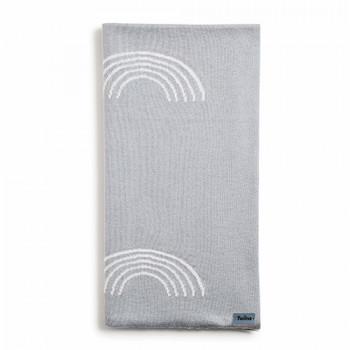 Плед Twins трикотаж 80x80 Rainbow 1406-TTR-10, grey, серый