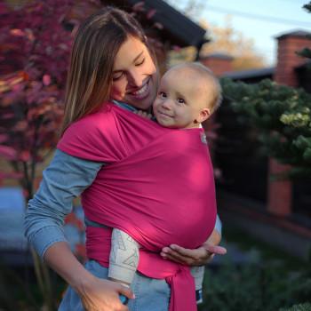 Слинг - шарф Love & Carry LC419, фуксия, розовый