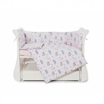 Бампер Twins Comfort line 2054-С-066, Единорог, розовый
