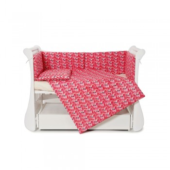 Бампер Twins Comfort line 2054-С-072, Фламинго, розовый
