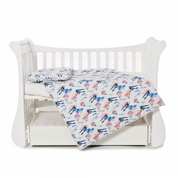 Сменная постель 3 эл Twins Comfort line 3054-C-056, Самолетики, голубой