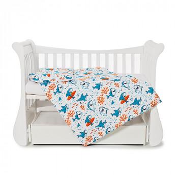 Сменная постель 3 эл Twins Comfort line 3054-C-057, Акулки, голубой