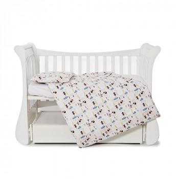 Сменная постель 3 эл Twins Comfort line 3054-C-061, Ежики, бежевый