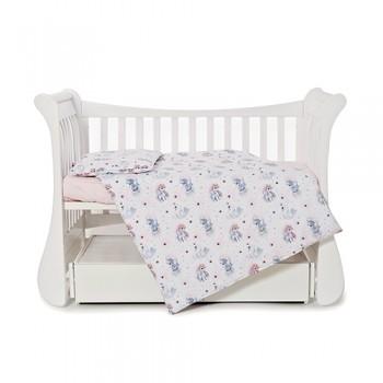 Сменная постель 3 эл Twins Comfort line 3054-C-066, Единорог, розовый