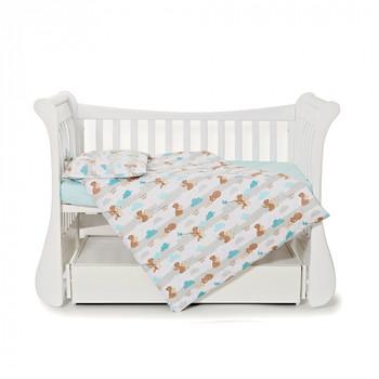 Сменная постель 3 эл Twins Comfort line 3054-C-068 Мама и медвежонок, мятный
