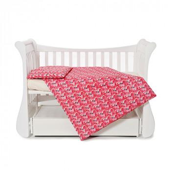 Сменная постель 3 эл Twins Comfort line 3054-C-072, Фламинго, розовый