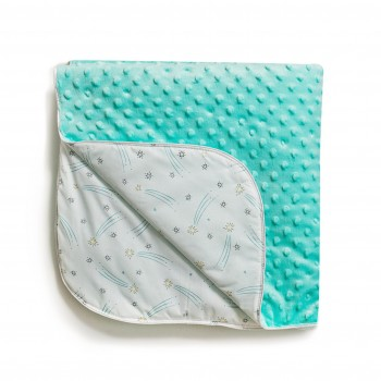 Плед Twins Dolce Minky autumn 80x80 1465-DMK-014, mint, м