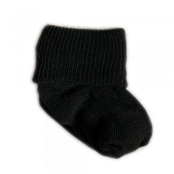 Шкарпетки бавовняні 0-3 м black, чорний, 0-3
