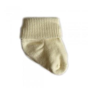 Шкарпетки бавовна 0-3 м ecru, бежевий, 0-3