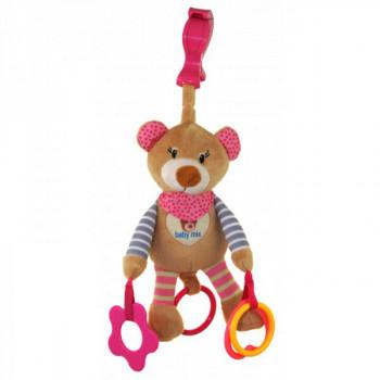 Плюшевая подвеска с вибро Baby Mix STK-16300 Мишка STK-16300P, pink, розовый