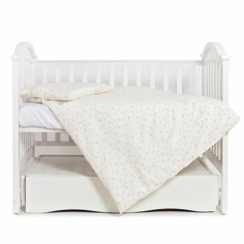 Сменная постель 3 эл Twins Romantic 3024-R-002, Сердечки, бежевый