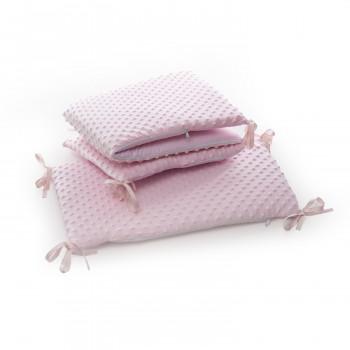 Бампер Twins Premium Minky 2030 TM-08 pink, розовый