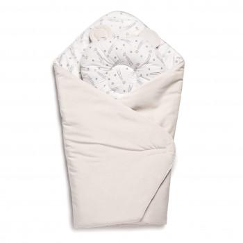 Набор конверт-плед с подушкой Twins Bear 9064-TB-02 ecru, бежевый
