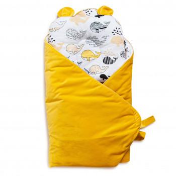 Набор конверт-плед с подушкой Twins Bear 9064-TB-05, melon, желтый