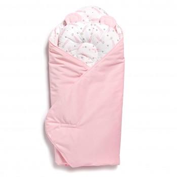 Набор конверт-плед с подушкой Twins Bear 9064-TB-08 pink, розовый