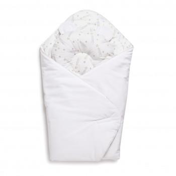 Набор конверт-плед с подушкой Twins Bear 9064-TB-01, white, белый