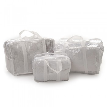 Набор сумок в родильный Twins 8000-3ел-01, white, белый