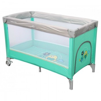 Манеж - кровать Baby Mix HR-8052 Воробышки HR-8052 Bird, mint, м