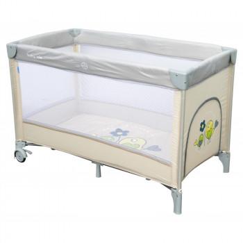 Манеж - кровать Baby Mix HR-8052 Воробышки HR-8052 Bird, beige, бежевый