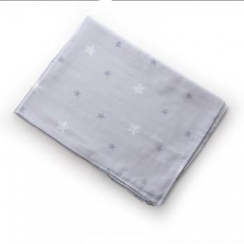 Плед Twins мусліновий 110х75 / кольори в асортименті/ 1410-110/75-Зі, Зірочка сіра, сірий