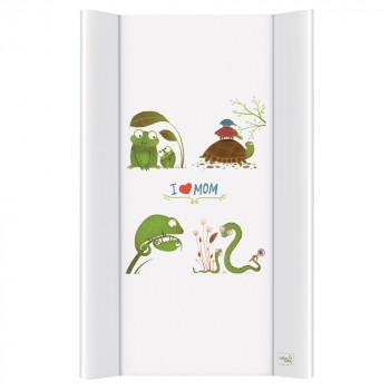 Пеленальная доска Cebababy 50x80 Azteca & Nature W-210-104-100, I love Mom / люблю маму, белый / зеленый