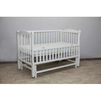 Кровать Дубок Элит с резьбой без ящика белый, белый