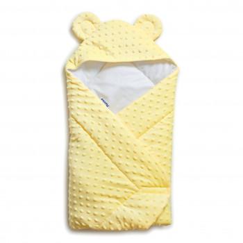 Конверт - плед Twins Minky Ушки 80х80 (силикон) 9013-TV-05 yellow, желтый
