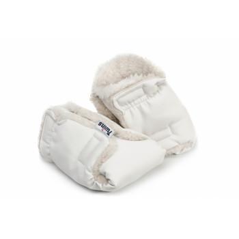 Перчатки Twins эко-кожа 80-191-01, white, белый
