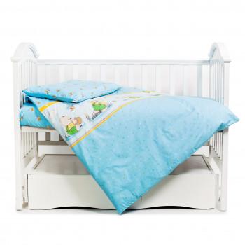 Сменная постель 3 эл Twins Comfort 3051-C-011, Медун голубые, голубой