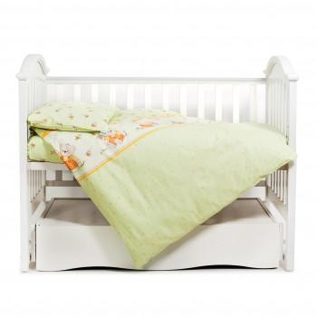Сменная постель 3 эл Twins Comfort 3051-C-012, Пушистые мишки зеленые, зеленый