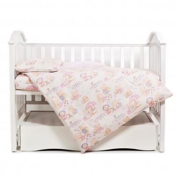 Сменная постель 3 эл Twins Comfort 3051-C-013, Пушистые мишки розовые, розовый