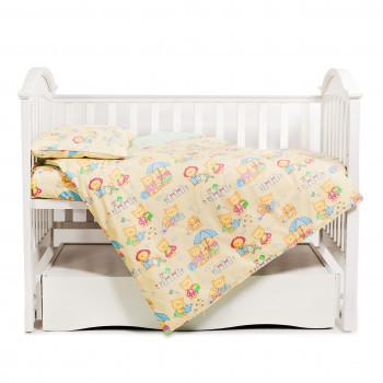 Сменная постель 3 эл Twins Comfort 3051-C-014, Пушистые мишки желтые, желтый