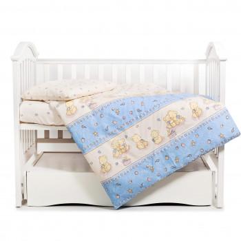 Сменная постель 3 эл Twins Comfort 3051-C-015, Пушистые мишки голубые, голубой