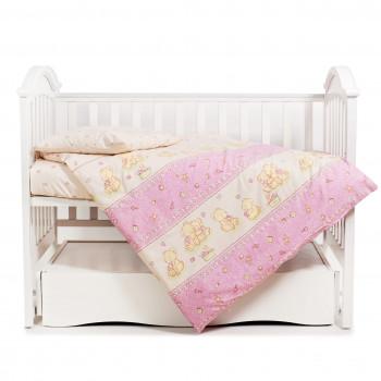 Сменная постель 3 эл Twins Comfort 3051-C-016, Мишки со звездой розовые, розовый