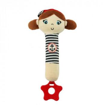 Плюшевая игрушка для руки Baby Mix STK-18869 Моряки STK-18869 G, girl, белый / синий