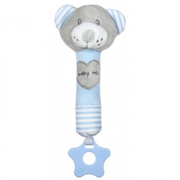 Плюшевая игрушка для руки Baby Mix STK-19392B Мишка STK-19392 BB, blue, голубой