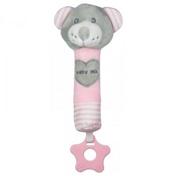 Плюшевая игрушка для руки Baby Mix STK-19392B Мишка STK-19392 PB, pink, розовый