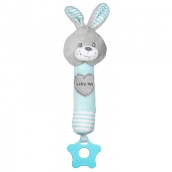 Плюшевая игрушка для руки Baby Mix STK-19392R Кролик STK-19392 MR, mint, м