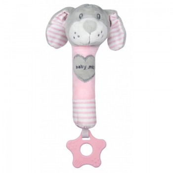 Плюшевая игрушка для руки Baby Mix STK-19392D Собачка STK-19392 PD, pink, розовый