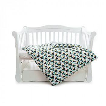 Сменная постель 3 эл Twins Comfort line 3054-C-055, Тукан, зеленый