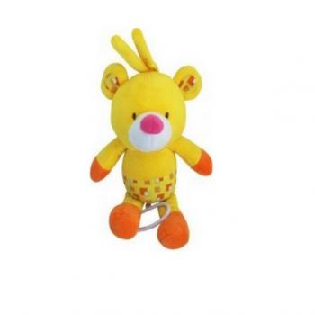 Плюшевая подвеска Baby Mix TE-8067 TE-8067-30В Мишка, yellow, желтый
