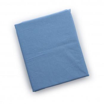 Простыня на резинке Twins 120x60 бязь 6010-04-04, blue, голубой