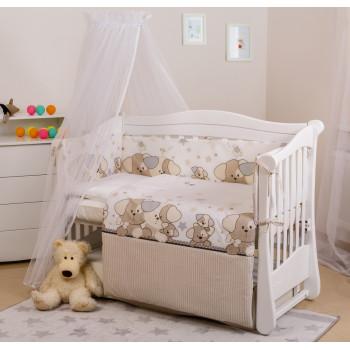 Постельный комплект 6 эл Twins Eco Line 4090-E-014, Cute Dog, беж / коричневый