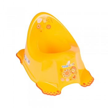 Горшок Tega FL-001 Фольк без музыки FL-001-113, yellow, желтый