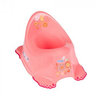 Горшок Tega PO-050 Фольк музыкальный PO-050-114, peach, розовый